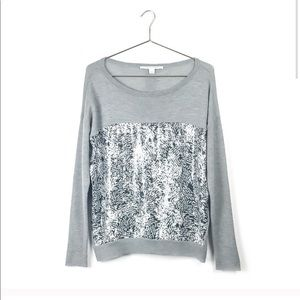 DVF Gracie Sequin 100% Wool Sweater